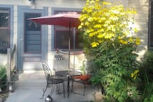 Sit and people watch with a beverage of your choice and maybe some cards or cribbage.  Weather  permitting and seasonal usually Memorial Day weekend through at least October. Patio area in back as well for a bit more privacy.