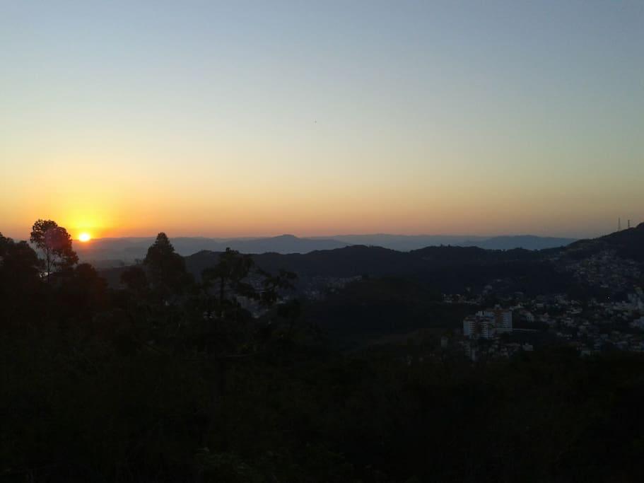 Pôr do sol da Varanda