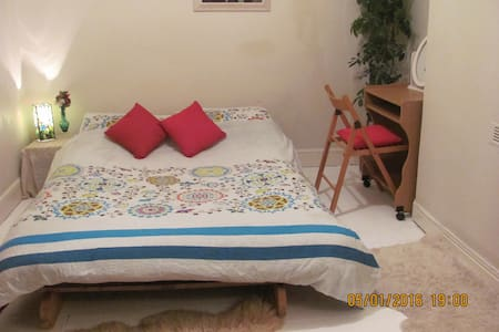 Double bed & sofa bed in friendly home