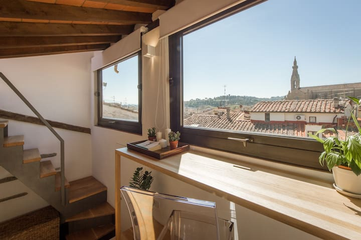 Rooftop Studio With Terrace and Gorgeous Views - Floransa - Daire
