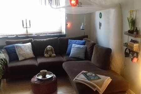 The cosiest couch fits  a Queen or 2 - Norrköping - Apartemen
