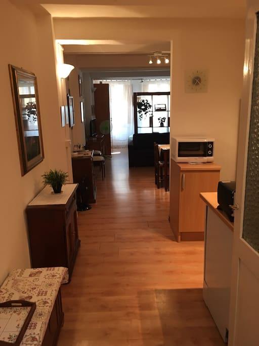 Veduta dall'ingresso dell'appartamento