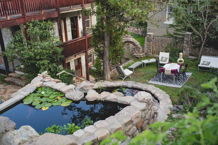 6 br in Old Bisbee with Giant Koi Ponds and Garden