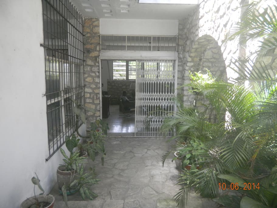 Entrance to common areas