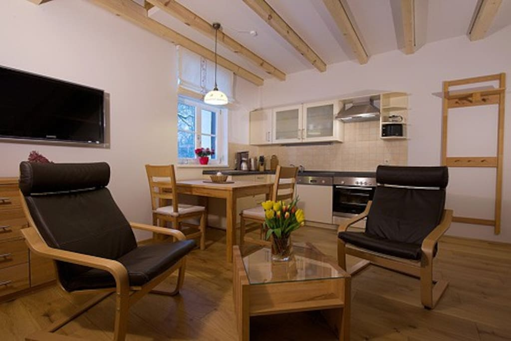 Apartment  für 2 Personen - Wohnraum mit Küche