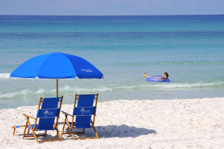 Seashell Beach Condo - on 30A! Steps to the water!