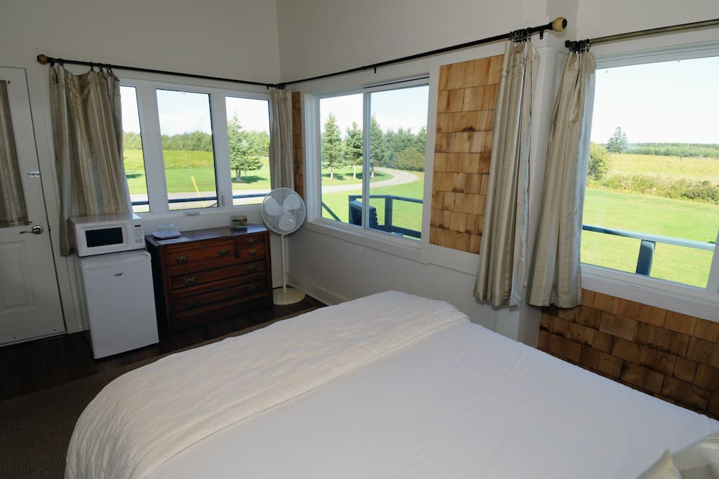 Fresh air is at an optimum with all the windows overlooking the yard, and Northumberland Strait.