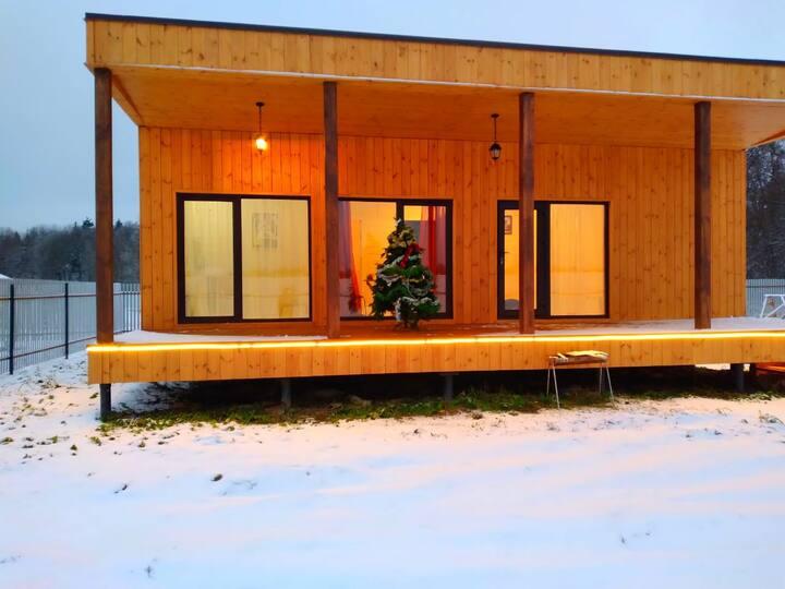 Уютный дом с сауной и панорамными окнами