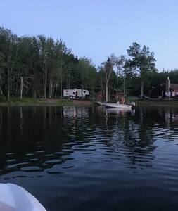RV experience on a beautiful lake