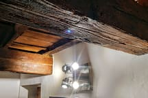 first bedroom - detail - the joists date back to the ancient period of 1600