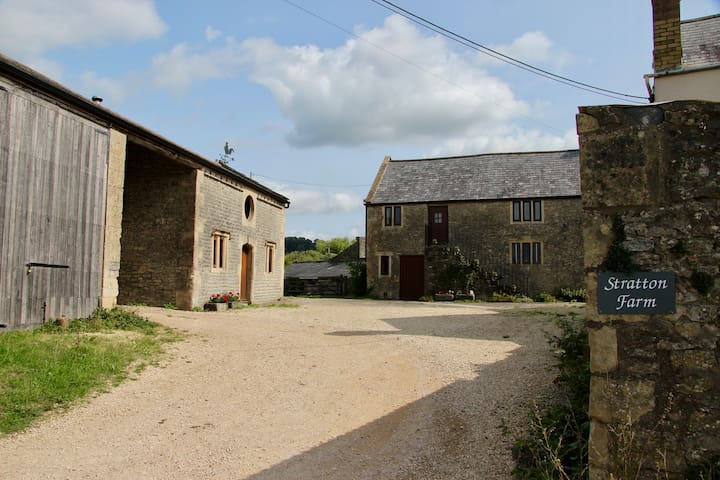 Some of the farm buildings