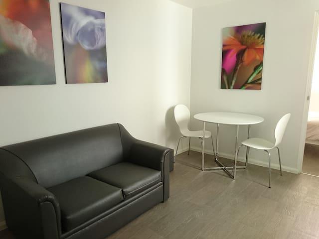 Cozy department,  living room, kitchenette, TV 350