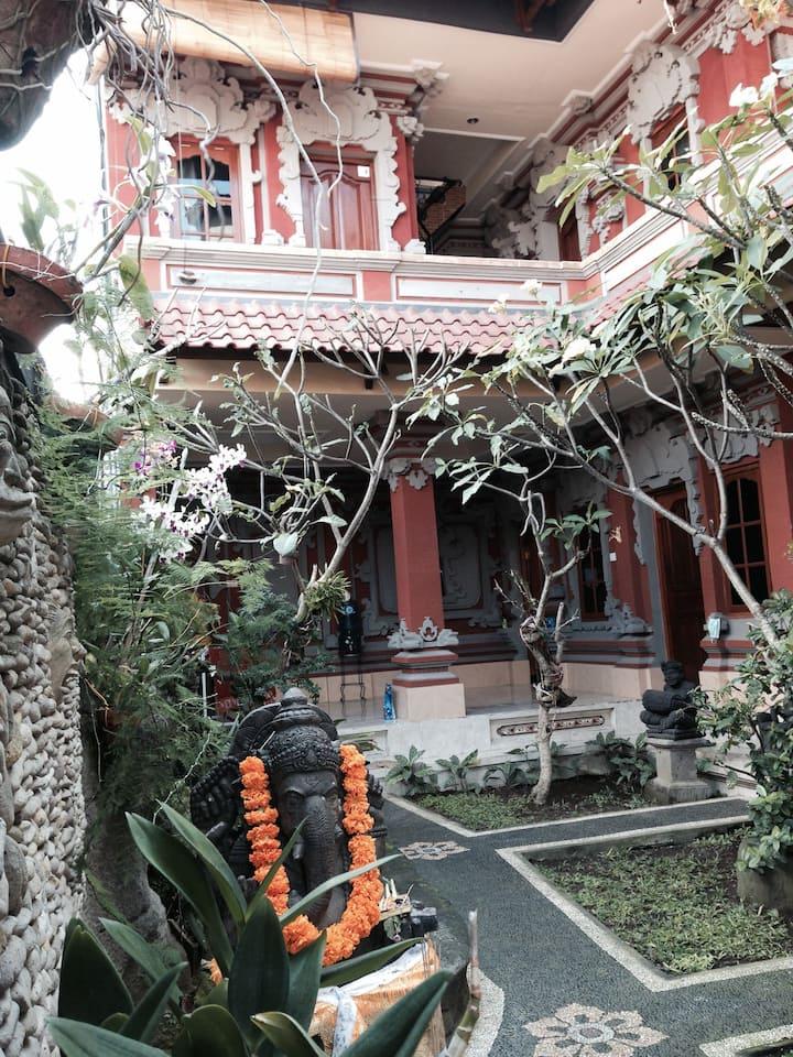 Balinese original style house located in Ubud-Bali