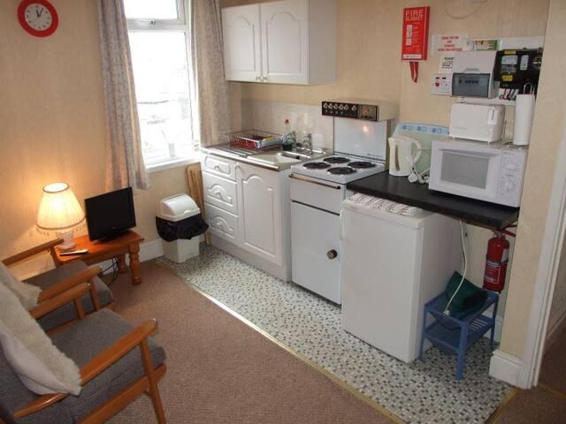 Apartment 1 Living Room / Kitchen