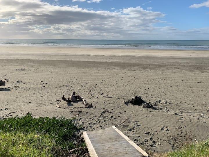 Nearly on the beach.
