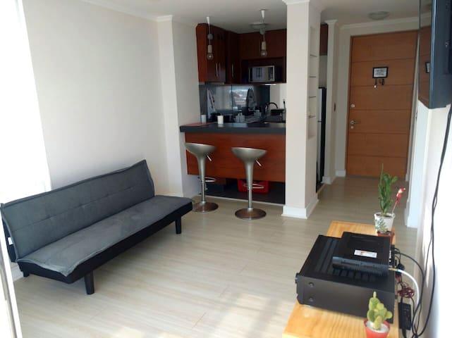 Amazing apartament for 3 with sea View - Con Con - Apartemen