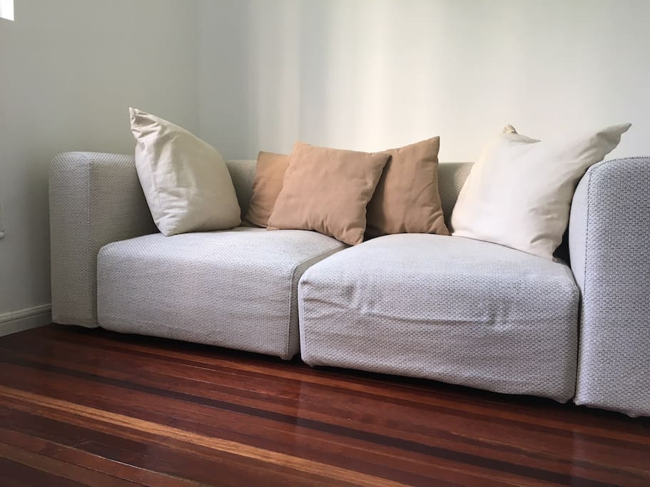 Brand new sofa for movie watching and chillaxing.