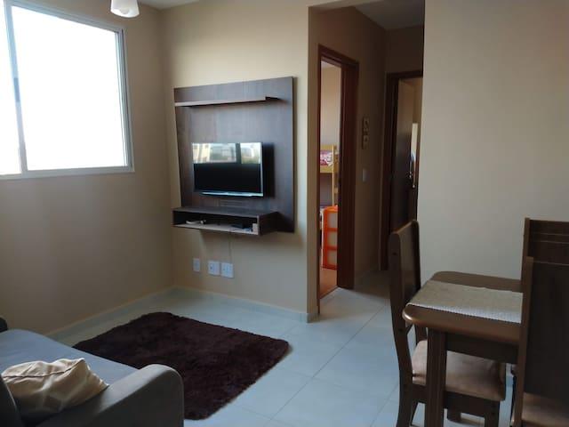 Apartamento novo na praia em frente ao Lovina