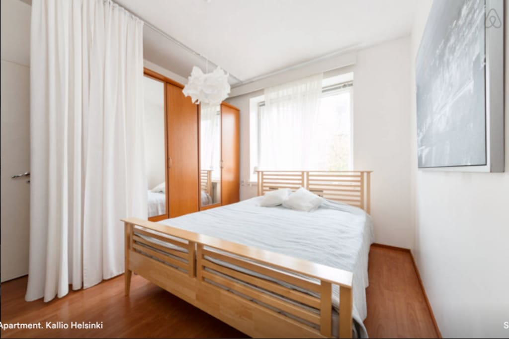 King-size bed and spacious wardrobe