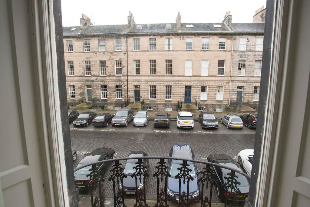 View from window and feature balconys