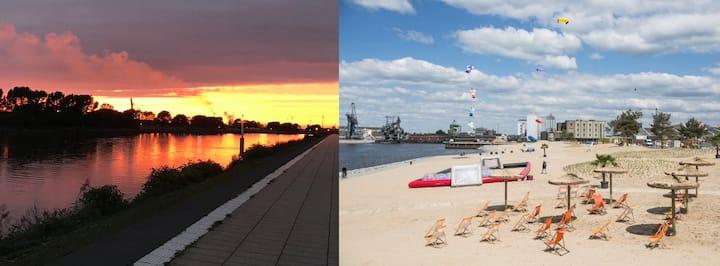 Maritimer Flair in Bremens Überseestadt