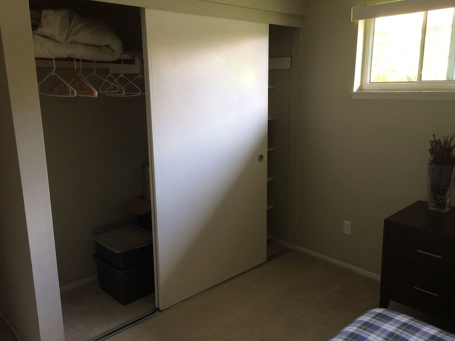 Closet in guest bedroom