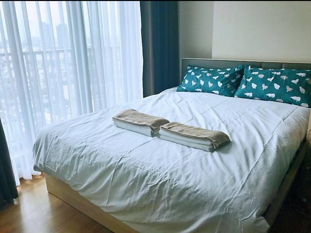 曼谷 全新ins风公寓 网红空中无边泳池 首次出租度假蜜月首选