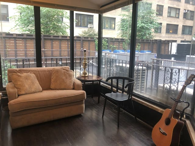 Large Bedroom with private sunroom Columbus Circle