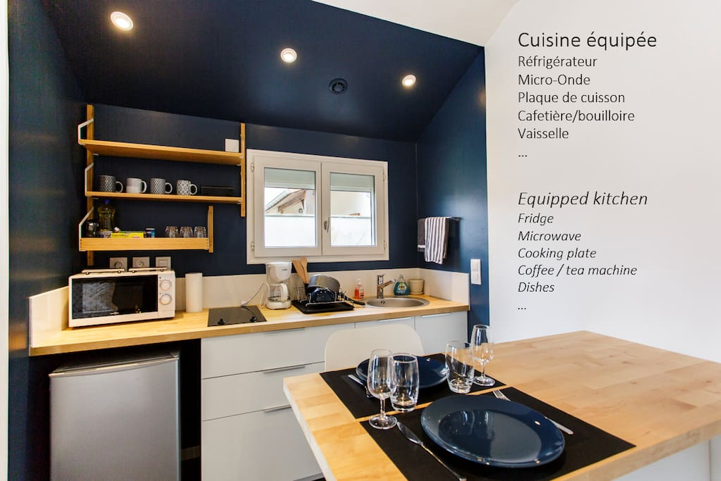 tiny house fully equipped lyon villeurbanne guest suites for rent in villeurbanne auvergne. Black Bedroom Furniture Sets. Home Design Ideas
