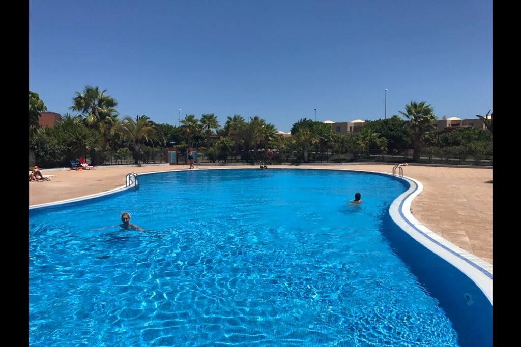 Zaraz za kompleksem - apartamentami i basenem , jak się wyjdzie na główną ulicę, zaraz można znaleźć centrum handlowe a dalej plaże .