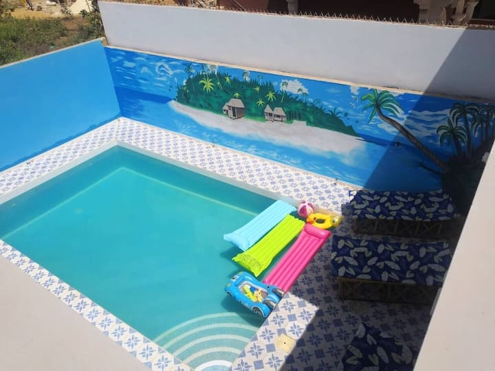 Villa with 3 bedrooms in Ngaparou, with wonderful city view, private pool, enclosed garden