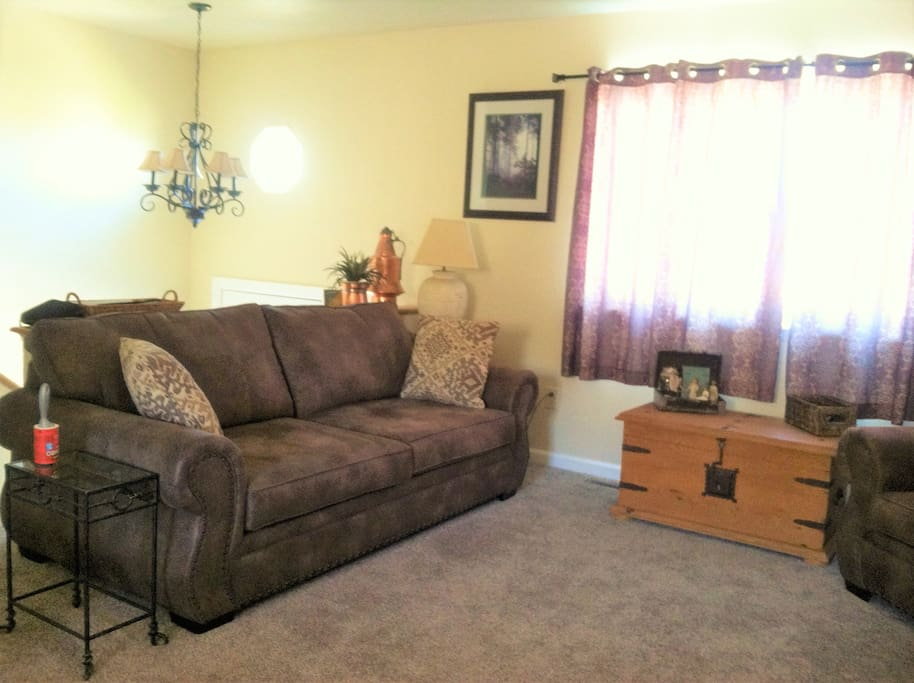 Big, comfy furniture