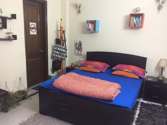 Bright room in a centrally located apartment - New Delhi - Apartment