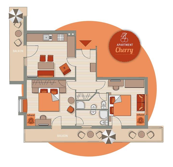 Apart Matthias*** - Apartment Cherry