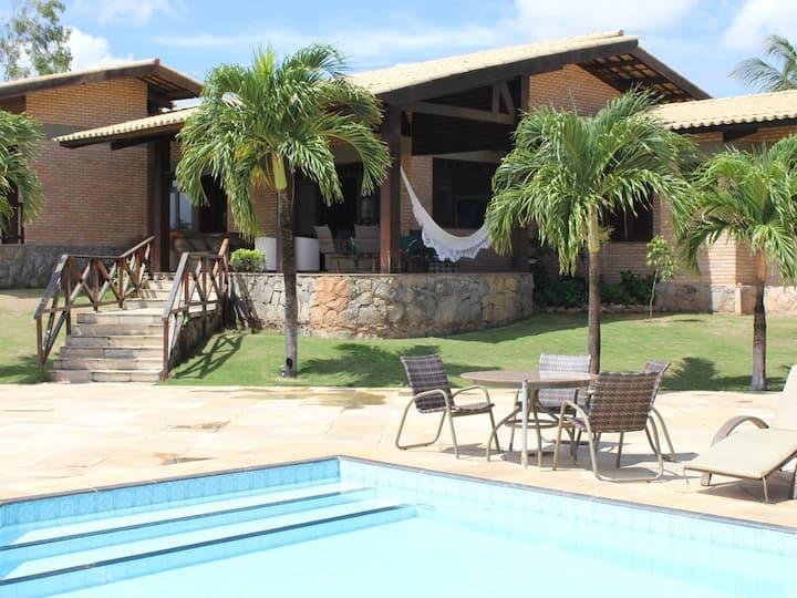 Casa Luxo 5 Suítes - Praia do Cumbuco - CE