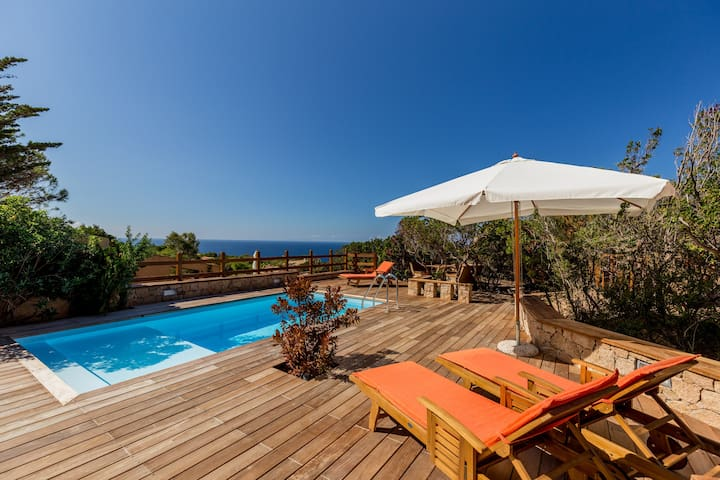 Villa Beatrice with wonderfull pool and sea view