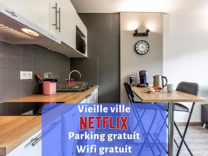 PORTES DE LA VIEILLE VILLE★ Parking★ Netflix★ Wifi