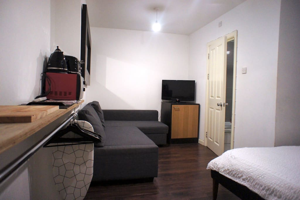 Heres' your Studio! with Double Sofa-Bed