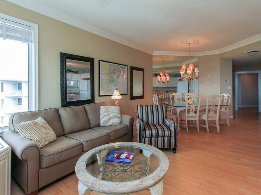 Tastefully Decorated Living Room at 2506 Sea Crest