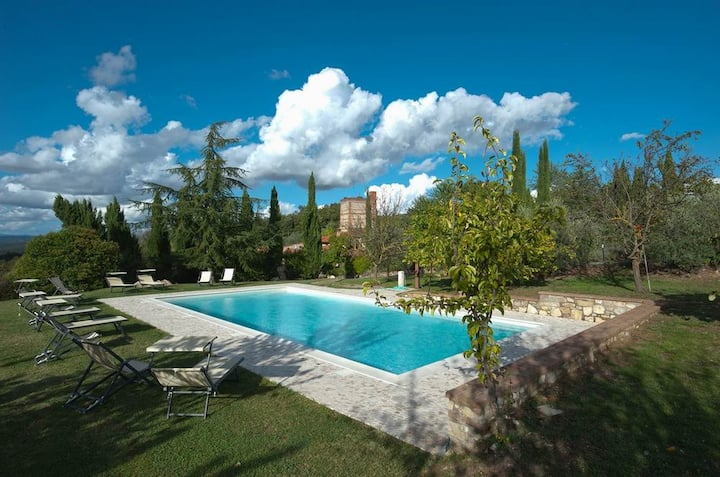 Stunning villa with spacious garden,pool, terrace