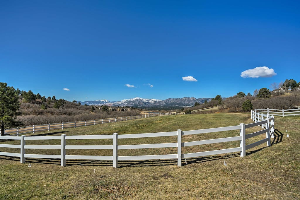 This home sits on 5 acres of picturesque land!