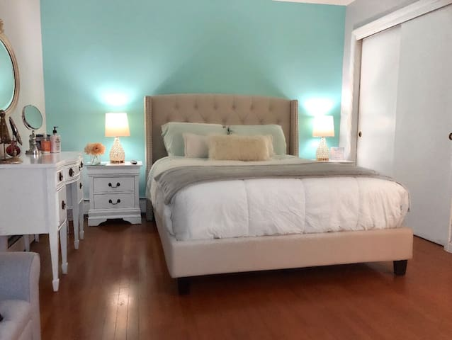 Comfy bedroom with a convenient location in town!