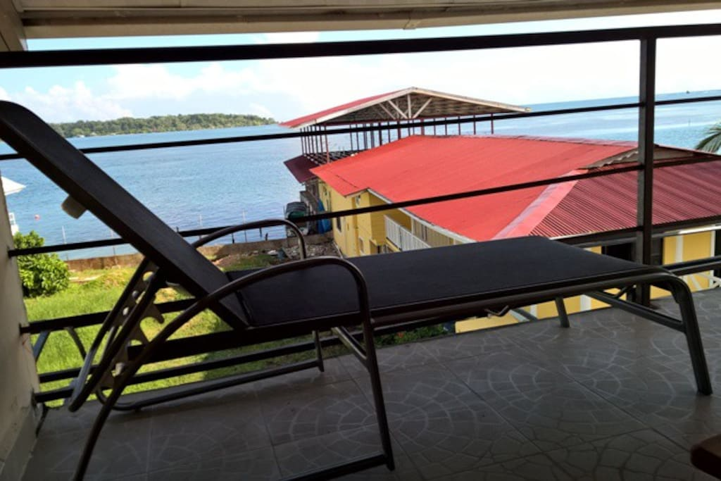 relaxing in the private balcony