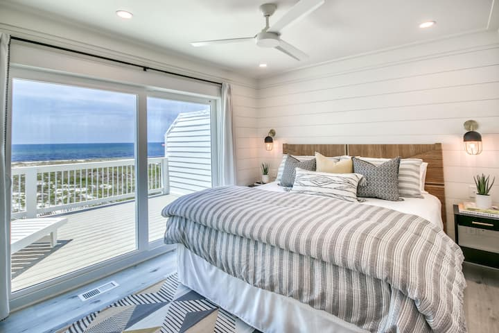 OCEANFRONT - OCEAN VIEWS - BEACHFRONT, 2 King Suites, Near Rosemary!
