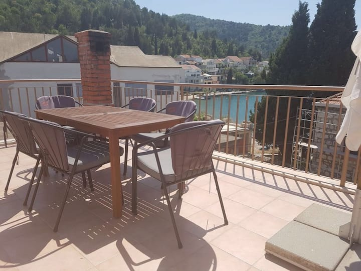 """Apartman """"Z"""" (4+2), 10m from sea, with view, Blace"""