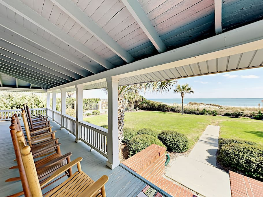 Sip sweet tea with stunning ocean views from your wraparound porch.