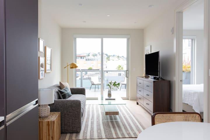 Sonder | Capp Apartments | Classic 1BR + Balcony
