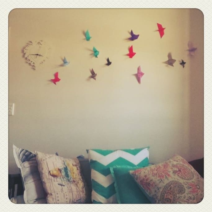 """Flock of Birds"" I made for the living room."