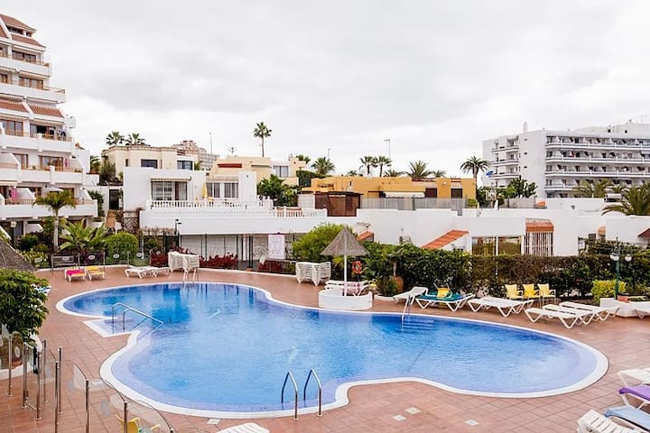 New modern studio in San Eugenio with heated pool