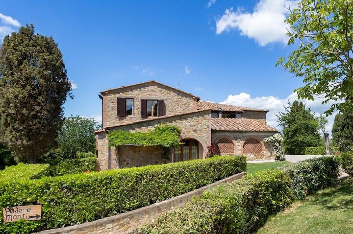 Mandorlo -  apartment  in farmhouse  with pool